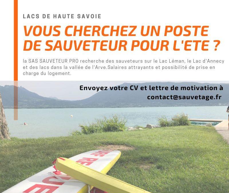 Vous cherchez un poste de sauveteur en Haute Savoie pour l'été ?